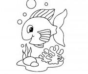 Coloriage et dessins gratuit Poisson mignon à imprimer