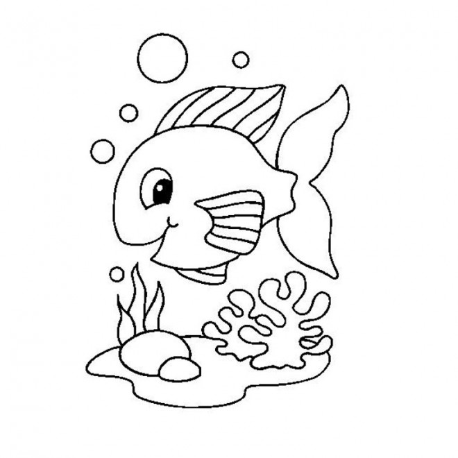 Coloriage et dessins gratuits Poisson mignon à imprimer