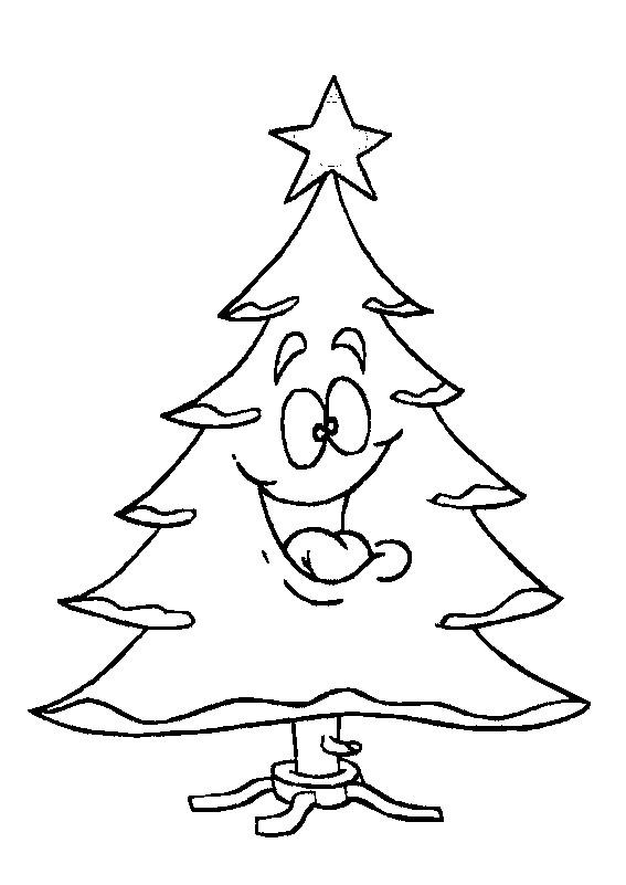 Coloriage et dessins gratuits Sapin de Noël Rigolo à imprimer