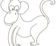 Coloriage dessin  Singe 42