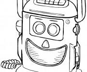Coloriage Un Robot Rigolo