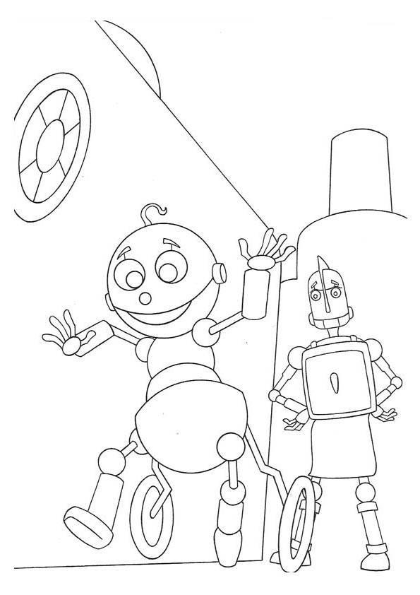 Coloriage et dessins gratuits Bébé Robot drôle à imprimer
