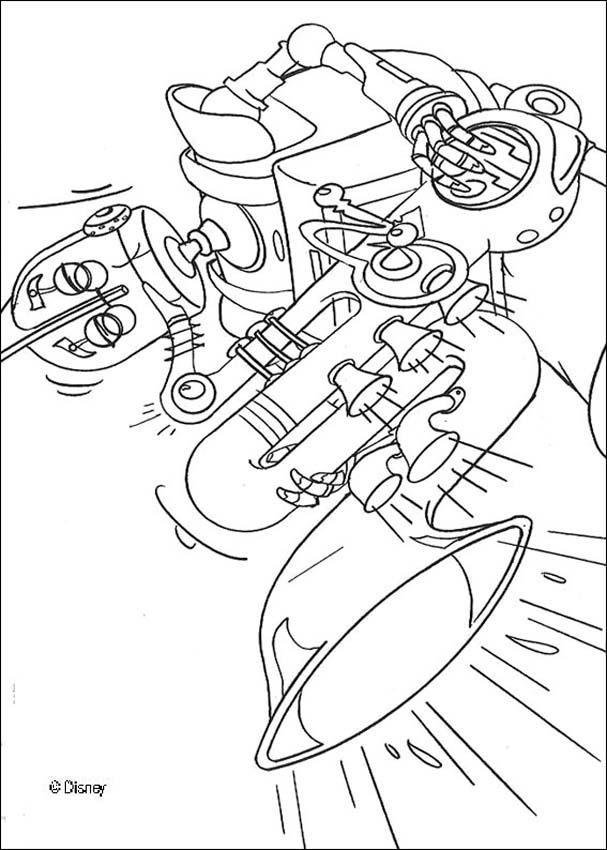 Coloriage et dessins gratuits Le Robot musicien à imprimer