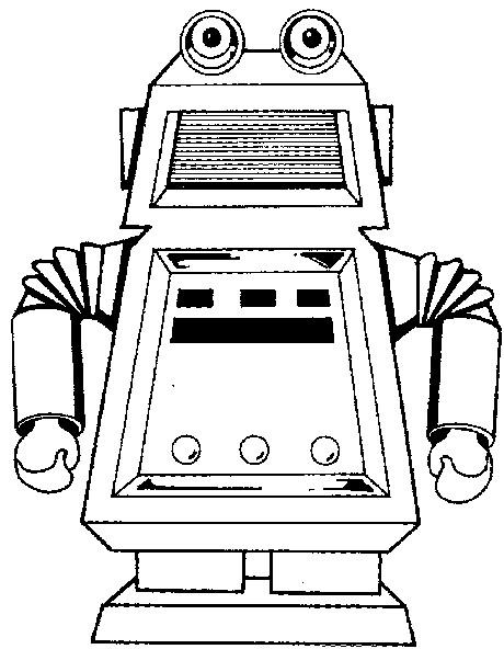 Coloriage et dessins gratuits Le Robot te regarde à imprimer