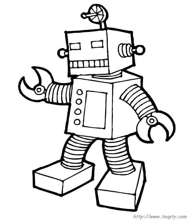 Coloriage et dessins gratuits Petit Robot à découper à imprimer