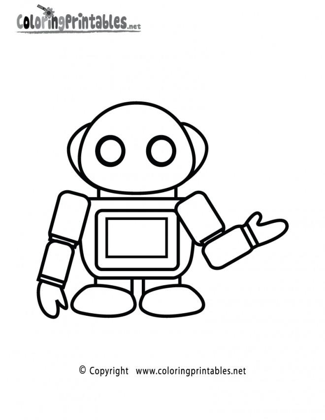 Coloriage et dessins gratuits Petit Robot marrant à imprimer
