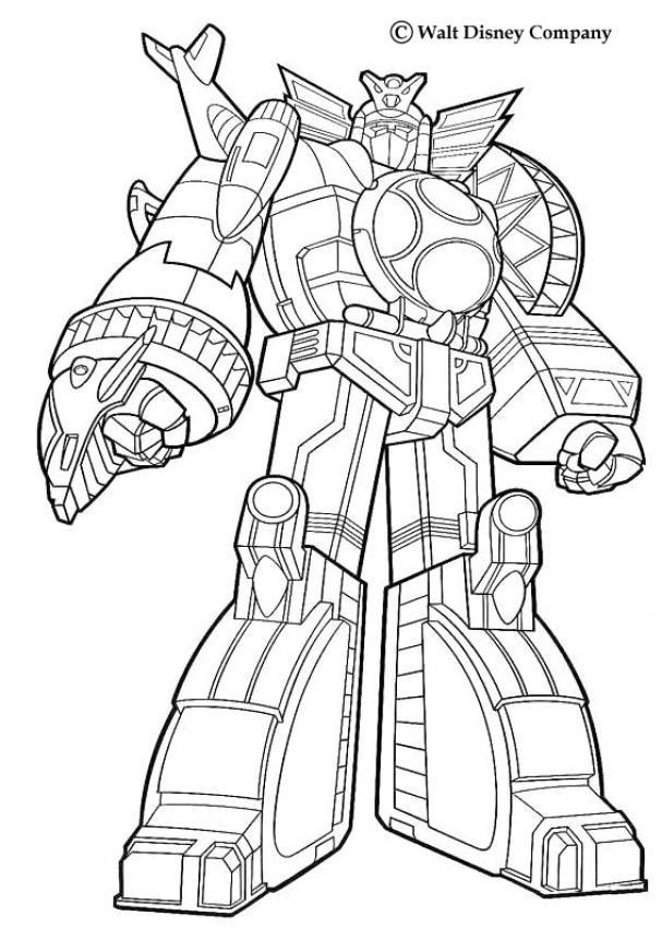 Coloriage et dessins gratuits Power Rangers Géant à imprimer