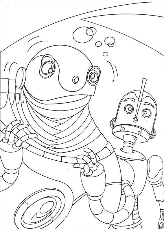 Coloriage et dessins gratuits Robot amusant pour enfant à imprimer