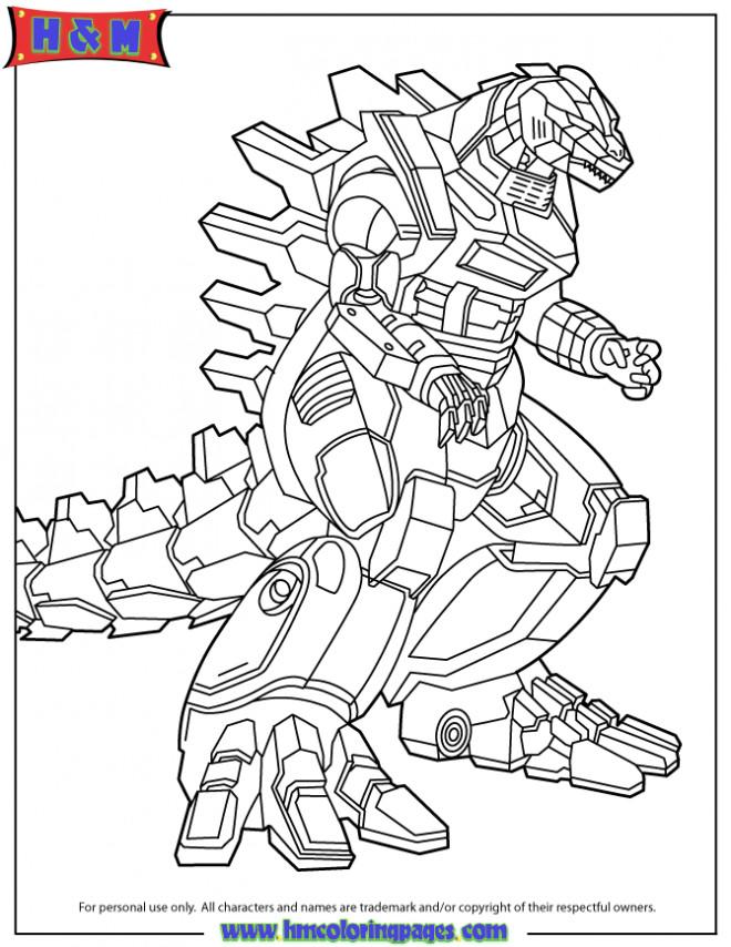 Coloriage et dessins gratuits Robot avec visage de Dragon à imprimer