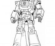 Coloriage et dessins gratuit Robot combattant à imprimer