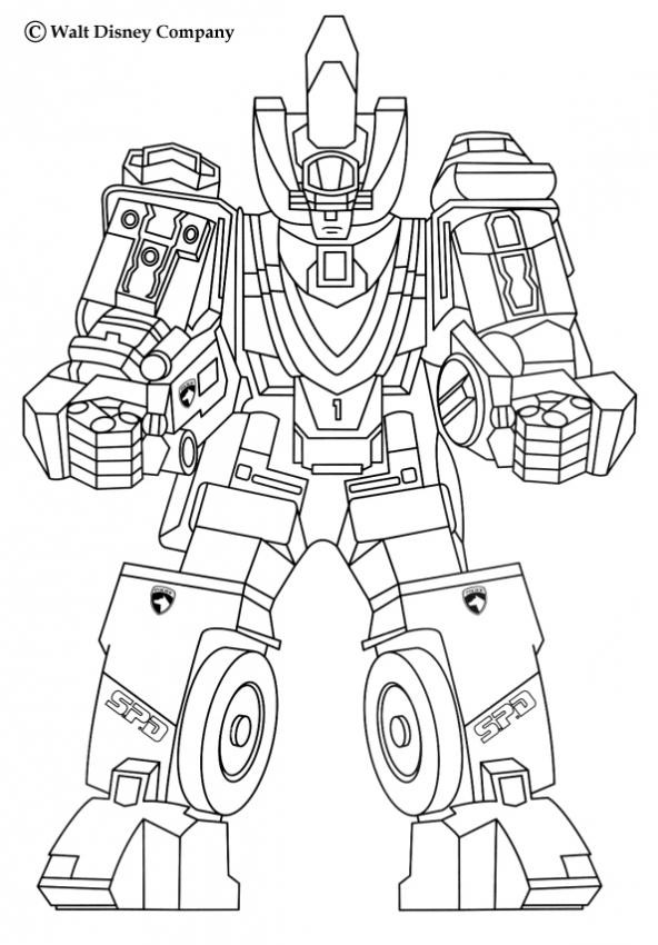 Coloriage robot de combat dessin gratuit imprimer - Coloriage franky le robot ...