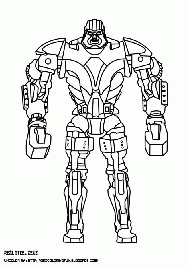 Coloriage Robot De Combat Debout Dessin Gratuit A Imprimer
