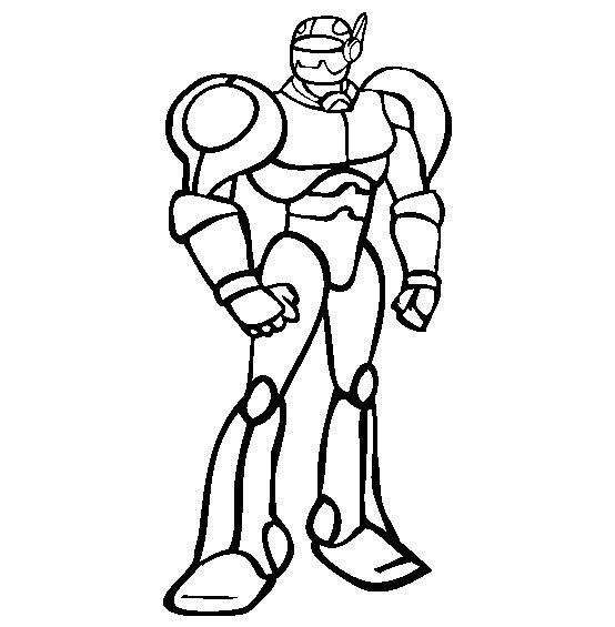 Coloriage Robot De Guerre Dessin Gratuit A Imprimer