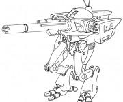 Coloriage et dessins gratuit Robot de Guerre à télécharger à imprimer