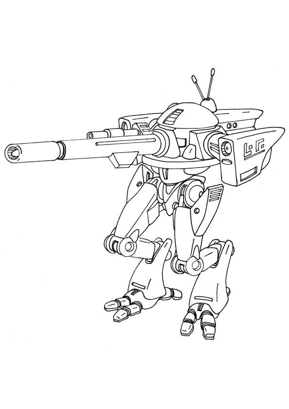 Coloriage Robot de Guerre à télécharger