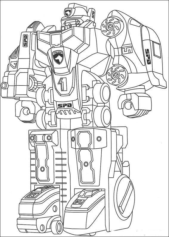 Coloriage Robot de guerre difficile