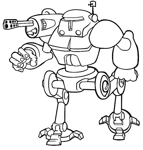 Coloriage et dessins gratuits Robot de guerre équipé à imprimer