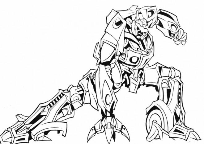 Coloriage Robot de guerre magnifique