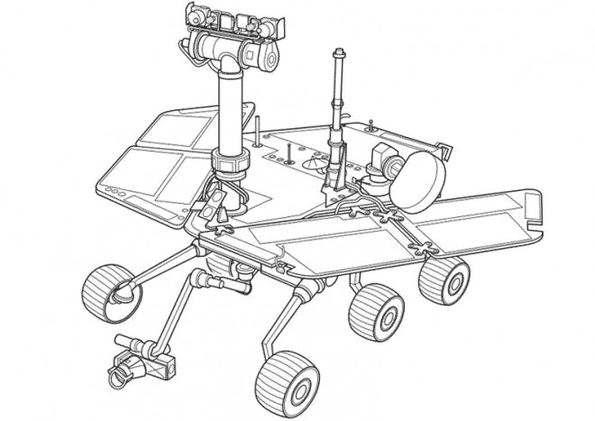 Coloriage et dessins gratuits Robot de Nasa à imprimer