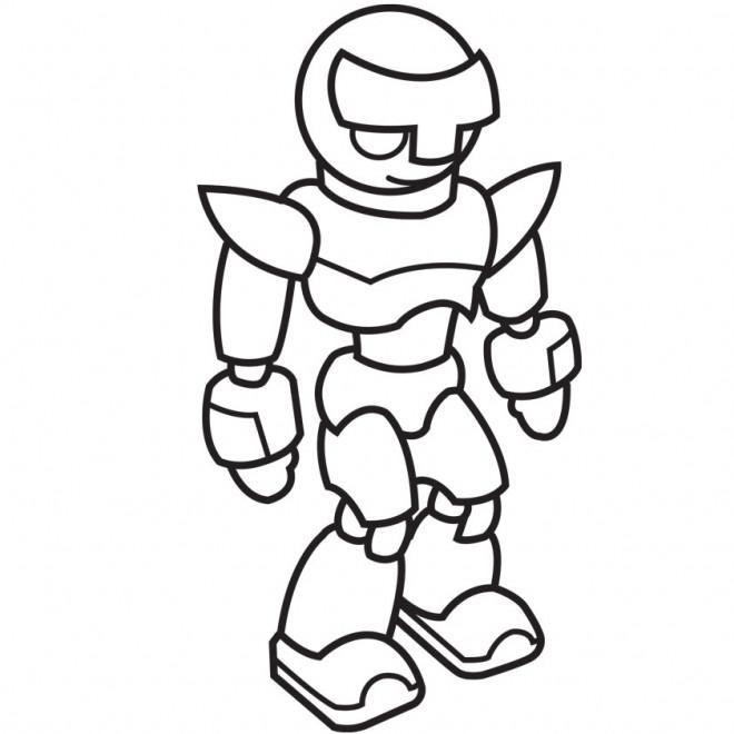 Coloriage et dessins gratuits Robot debout vectoriel à imprimer