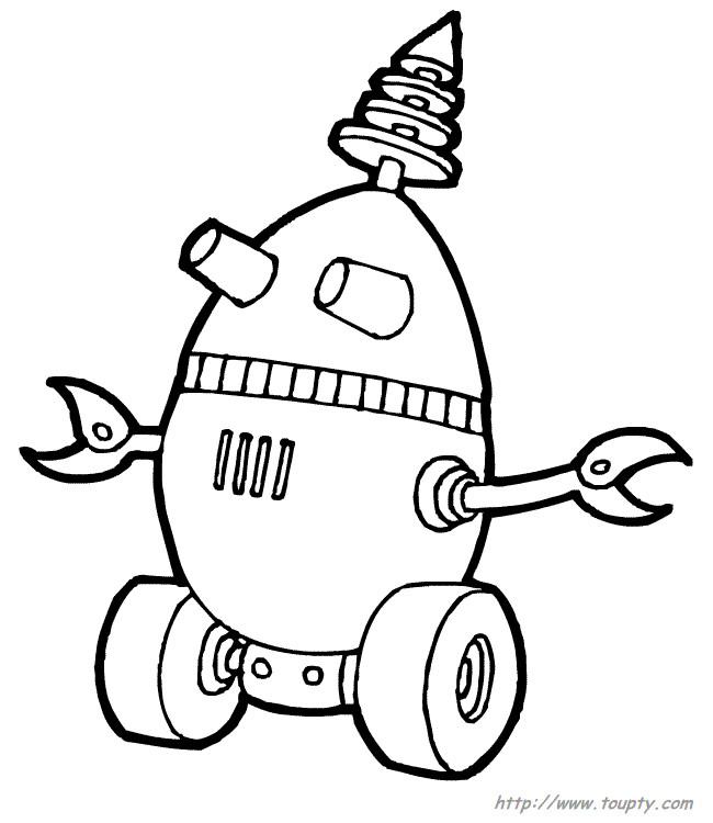 Coloriage et dessins gratuits Robot en forme d'oeuf à imprimer