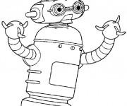 Coloriage et dessins gratuit Robot En Ligne à imprimer