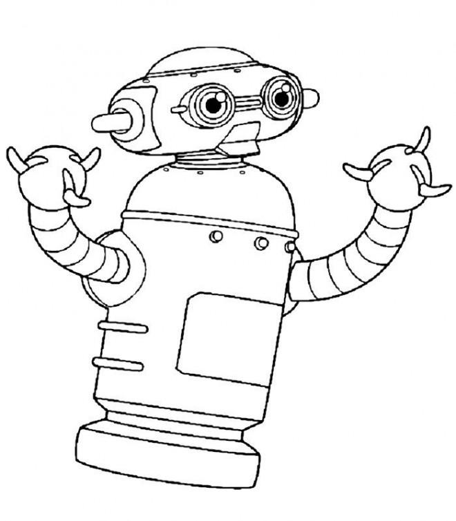 Coloriage et dessins gratuits Robot En Ligne à imprimer