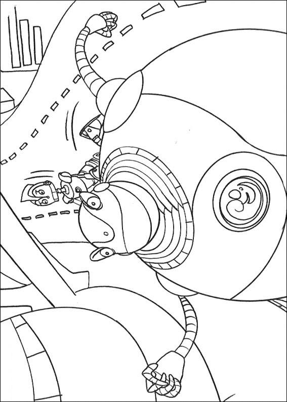 Coloriage et dessins gratuits Robot en mission Disney à imprimer