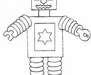 Coloriage Robot facile