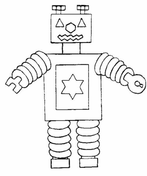 Coloriage et dessins gratuits Robot facile à imprimer