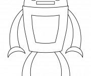 Coloriage et dessins gratuit Robot facile avec antenne à imprimer