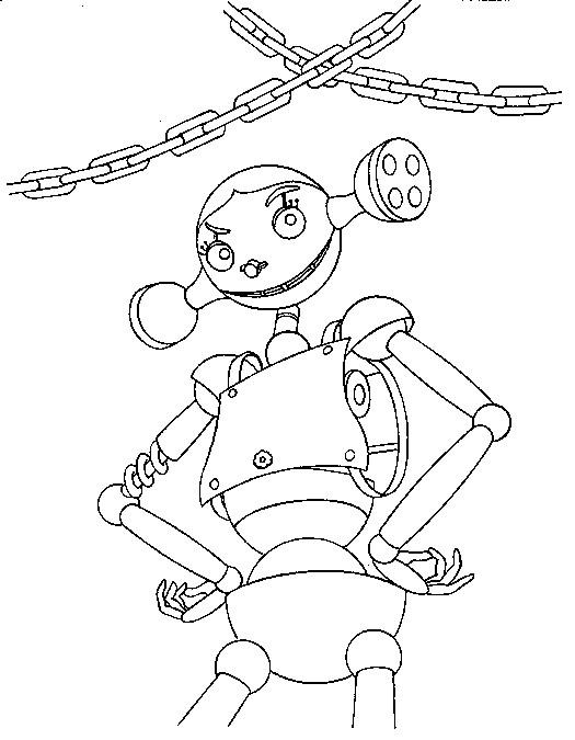 Coloriage et dessins gratuits Robot Féminine à imprimer