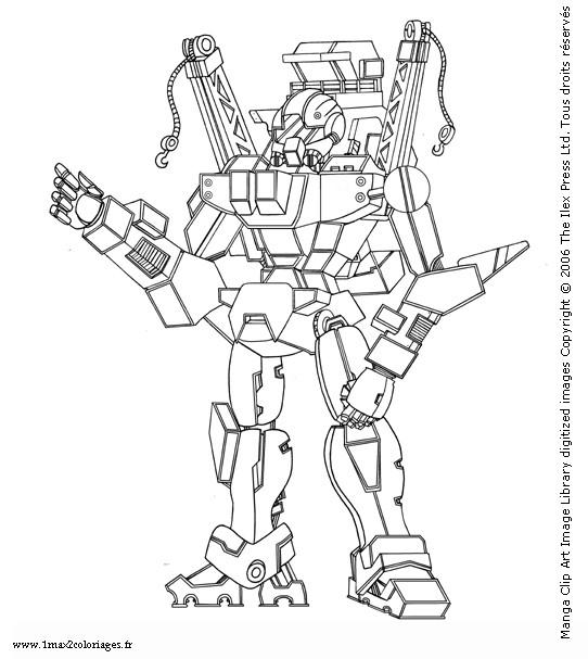 Coloriage Robot Guerrier Dessin Gratuit A Imprimer