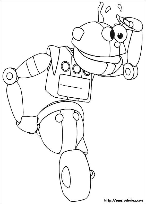 Coloriage et dessins gratuits Robot humoristique à imprimer