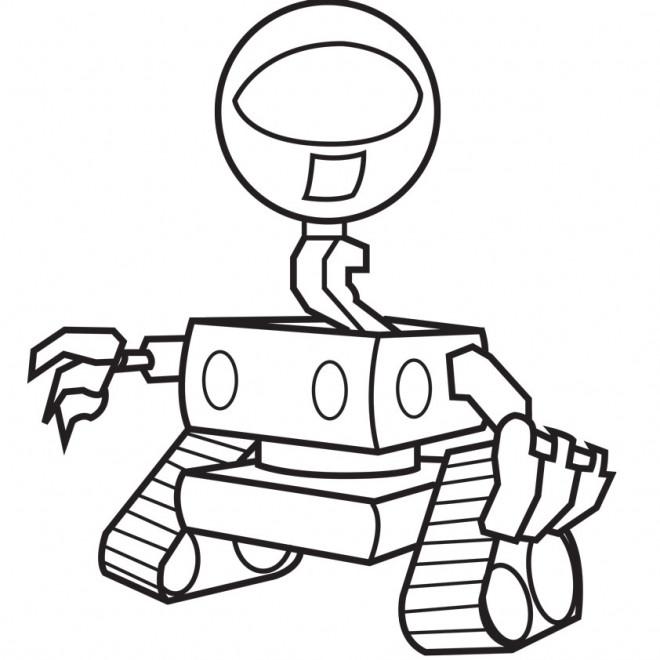 Coloriage et dessins gratuits Robot maternelle en couleur à imprimer
