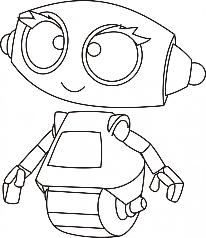 Coloriage et dessins gratuits Robot mignon à imprimer
