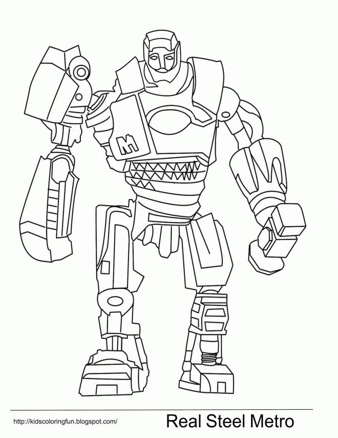 Coloriage et dessins gratuits Robot Real Steel Metro à imprimer