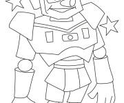 Coloriage et dessins gratuit Robot rigolo magique à imprimer