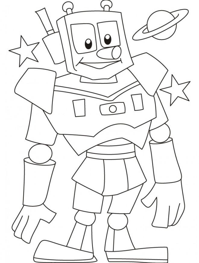 Coloriage et dessins gratuits Robot rigolo magique à imprimer