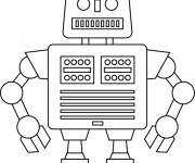 Coloriage Robot simple