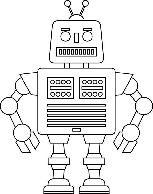 Coloriage Robot Simple Dessin Gratuit A Imprimer
