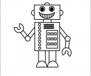 Coloriage et dessins gratuit Robot stylisé à imprimer