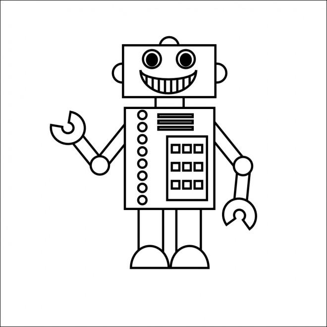 Coloriage et dessins gratuits Robot stylisé à imprimer