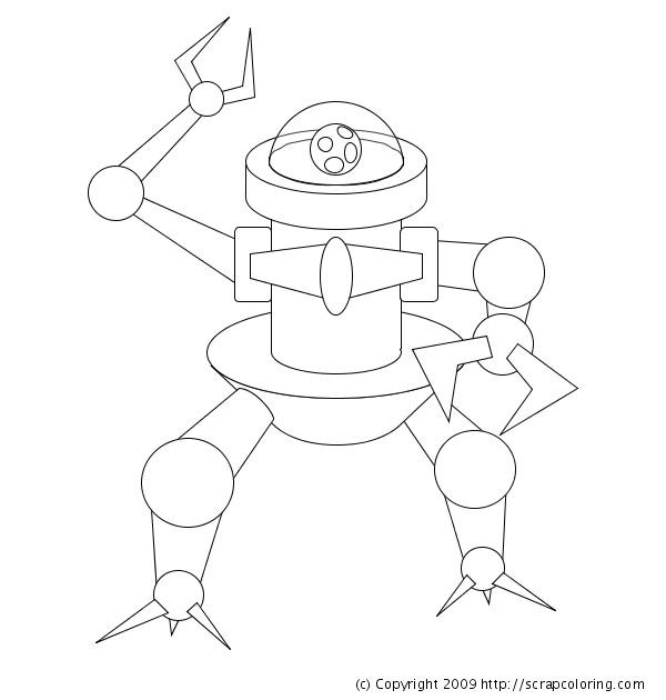 Coloriage et dessins gratuits Robot stylisé en Ligne à imprimer