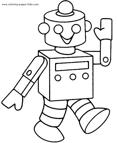 Coloriage et dessins gratuits Robot te salue à imprimer