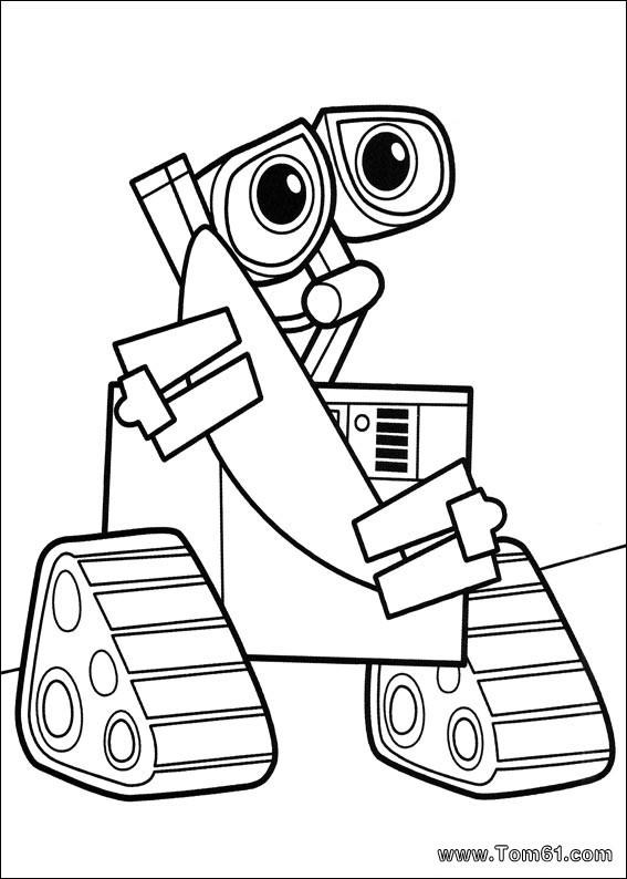 Coloriage et dessins gratuits Robot timide dessin animé à imprimer