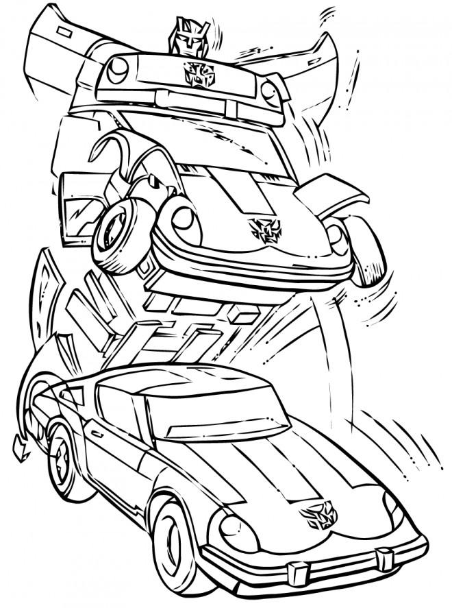 Coloriage Robot Transformers à Colorier Dessin Gratuit à Imprimer