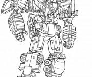 Coloriage Robot Transformers en couleur