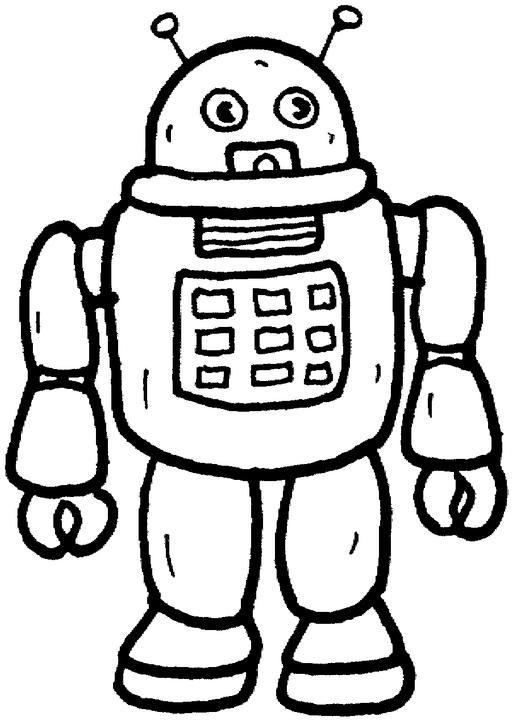 Coloriage et dessins gratuits Robot vecteur à imprimer