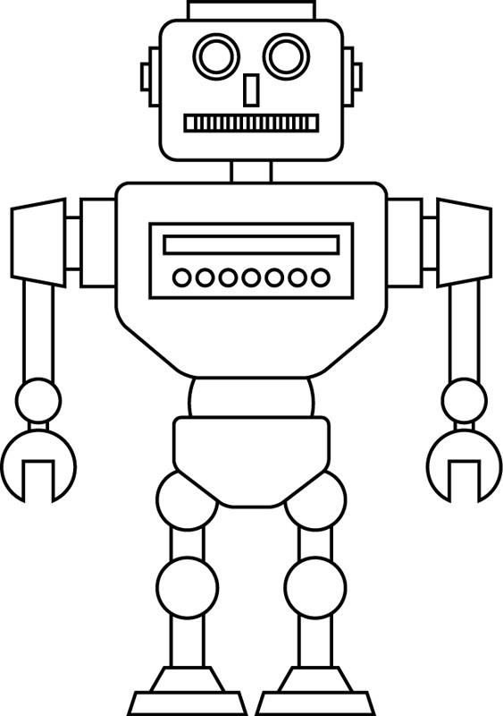 Coloriage et dessins gratuits Robot vue de face à imprimer